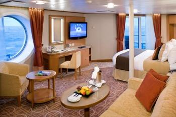 Flexibele gordijnrails op een cruiseschip